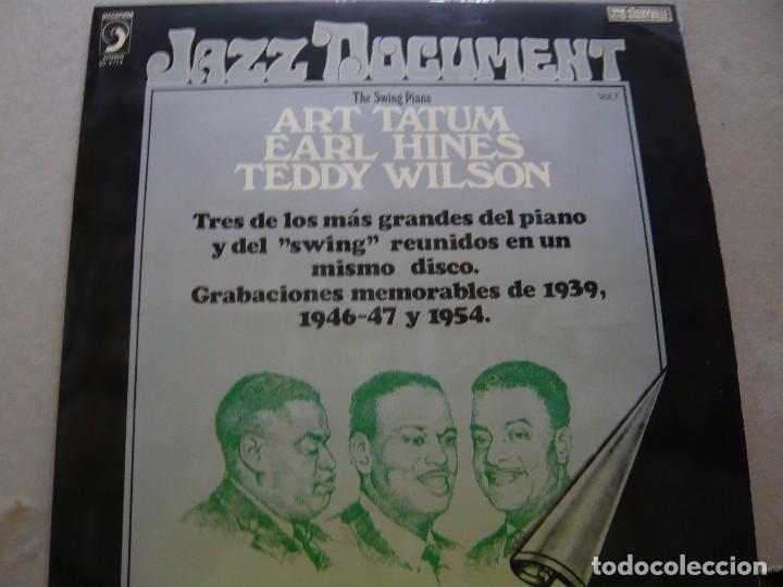 ART TATUM. EARL HINES. TEDDY WILSON. THE SWING PIANO. DISCOPHON (S) 4174 LP 1974 SPAIN (Música - Discos - LP Vinilo - Jazz, Jazz-Rock, Blues y R&B)