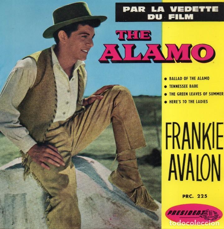 FRANKIE AVALON - THE ALAMO, EP, BALLAD OF THE ALAMO + 3, AÑO 19?? MADE IN FRANCE (Música - Discos de Vinilo - EPs - Bandas Sonoras y Actores)
