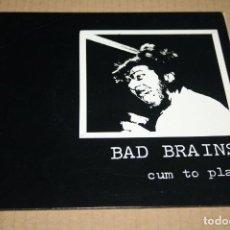 Discos de vinilo: SINGLE BAD BRAINS CUM TO PLAY (EDICIÓN RARA AMERICANA). Lote 71606655