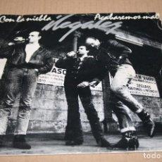Discos de vinilo: SINGLE PROMOCIONAL ILEGALES 1988 ACABAREMOS MAL / CON LA NIEBLA. Lote 71607795