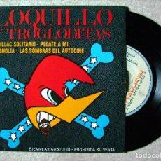 Discos de vinilo: LOQUILLO Y TROGLODITAS.CADILLAC SOLITARIO-PEGATE A MI + 2 PROMO....EX. Lote 72662150
