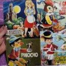 Discos de vinilo: LP LA CENICIENTA, SOLDADITO DE PLOMO, GATO CON BOTA Y PINOCHO,. Lote 71637043