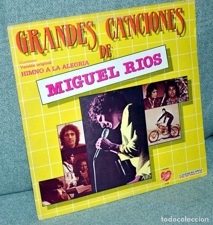 MIGUEL RIOS - GRANDES CANCIONES - LP VINILO 12'' - EDITADO EN VENEZUELA - HISPAVOX / RODVEN - 1984 (Música - Discos - LP Vinilo - Solistas Españoles de los 70 a la actualidad)
