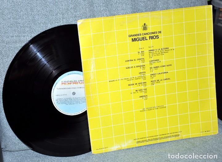 Discos de vinilo: MIGUEL RIOS - GRANDES CANCIONES - LP VINILO 12'' - Editado en VENEZUELA - HISPAVOX / RODVEN - 1984 - Foto 2 - 71651619