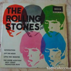 Discos de vinilo: THE ROLLING STONES - SATISFACTION - OFF THE HOOK - LITTLE RED ROOSTER + 1 - E.P.- 1965. Lote 71686027