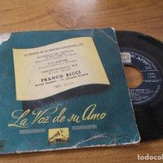 Discos de vinilo: FRANCO RICCI. III FESTIVAL DE LA CANCION NAPOLITANA 1955, ESTRELLA DE NAPOLES, E LLAMPARE.. Lote 71711415