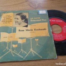 Discos de vinilo: ROSA MARIA KUCHARSKI. TRISTESSE, MOMENTO MUSICAL, LE TAMBOURIN.TOCCATA EN LA MAYOR,. Lote 71712167