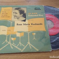 Discos de vinilo: ROSA MARIA KUCHARSKI. PARA ELISA. ADIOS AL PIANO, SEIS ESCOCESAS, MINUTO EN SOL MAYOR. BEETHOVEN.. Lote 71712447