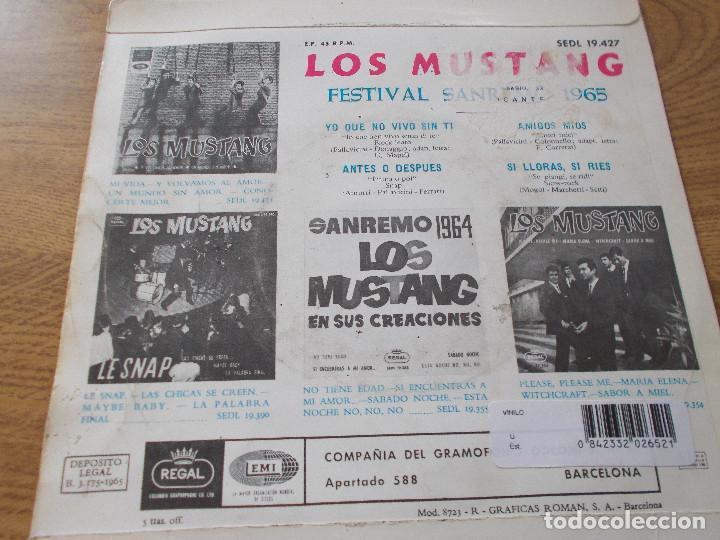 Discos de vinilo: LOS MUSTANG, SAN REMO 1965 SANREMO - Foto 2 - 71713895