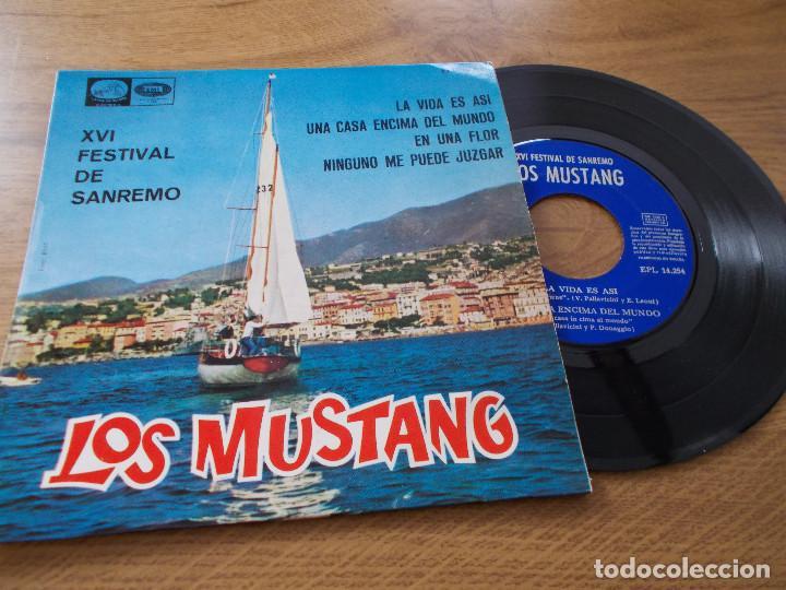 LOS MUSTANG, XVI FESTIVAL DE SANREMO SAN REMO (Música - Discos de Vinilo - EPs - Otros Festivales de la Canción)