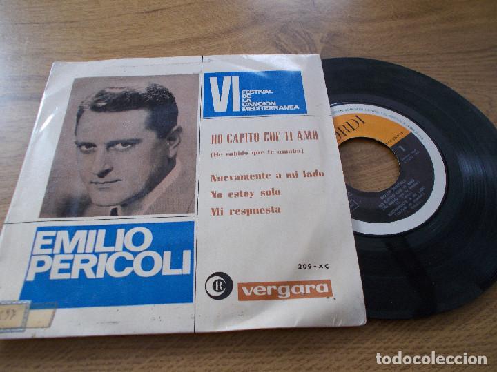 EMILIO PERICOLI,VI FESTIVAL DE LA CANCION MEDITERRANEA. HO CAPITO CHE TI AMO, NUEVAMENTE A MI LADO. (Música - Discos de Vinilo - EPs - Otros Festivales de la Canción)