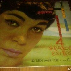 Discos de vinilo: LEN MERCER Y SU ORQUESTA:4 GRANDES ÉXITOS DE PELICULA (EP.7