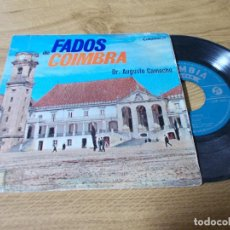Discos de vinilo: FADOS DE COIMBRA. DR. AUGUSTO CAMACHO.. Lote 71729731