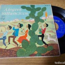 Discos de vinilo: ALEGRES VILLANCICOS.LA MARIMORENA, NOCHE DIVINA, UN PASTOR COMIENDO GACHAS, ALEGRIA.. Lote 71735595