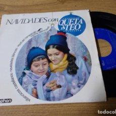 Discos de vinilo: NAVIDADES CON QUETA Y TEO. VILLANCICOS CASTELLANOS, NAVIDADES BLANCAS, REPICAD CAMPANAS,. Lote 71735891