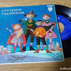 Discos de vinilo: CANTEMOS VILLANCICOS, COROS DE LAS ESCUELAS AVEMARIANAS, CHIQUIRRITIN, LA VIRGEN LAVA PAÑALES,. Lote 71736559