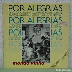 Discos de vinilo: POR ALEGRIAS. GRABACIONES HISTORICAS. LP. Lote 99920515