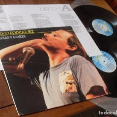 Discos de vinilo: SILVIO RODRIGUEZ DOBLE LP CAUSAS Y AZARES MADE IN SPAIN 1986. Lote 73803307
