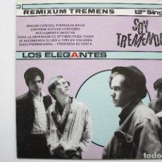 Discos de vinilo: LOS ELEGANTES- SOY TREMENDO- MAXI SINGLE PROMO 1985- VINILO NUEVO. IMPECABLE.. Lote 71805367