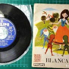 Discos de vinilo: DISCO DEL CUENTO DE BLANCANIEVES CON LIBRO Y 2 MAS DE REGALO. Lote 71815327