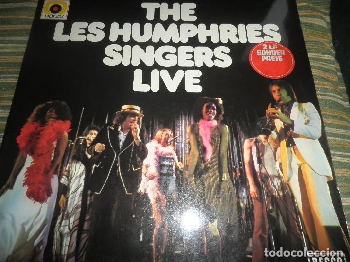 THE LES HUMPHRIES SINGERS - LIVE DOBLE LP - ORIGINAL ALEMAN - DECCA RECORDS 1975 GATEFOLD COVER - (Música - Discos - LP Vinilo - Pop - Rock - Extranjero de los 70)
