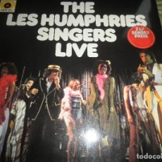 Discos de vinilo: THE LES HUMPHRIES SINGERS - LIVE DOBLE LP - ORIGINAL ALEMAN - DECCA RECORDS 1975 GATEFOLD COVER -. Lote 71818015