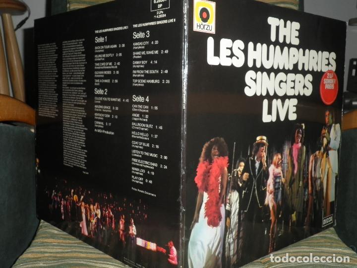 Discos de vinilo: THE LES HUMPHRIES SINGERS - LIVE DOBLE LP - ORIGINAL ALEMAN - DECCA RECORDS 1975 GATEFOLD COVER - - Foto 11 - 71818015
