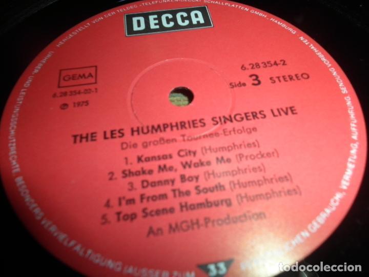 Discos de vinilo: THE LES HUMPHRIES SINGERS - LIVE DOBLE LP - ORIGINAL ALEMAN - DECCA RECORDS 1975 GATEFOLD COVER - - Foto 19 - 71818015