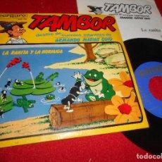 Discos de vinilo: TAMBOR CUENTOS ARMANDO MATIAS GUIU.LA RANITA Y LA HORMIGA EP 1965 GLORIA ROIG+PILAR MORALES+ARTURO M. Lote 71834155