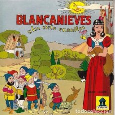 Discos de vinilo: CUENTOS INFANTILES ODEON BLANCANIEVES Y LOS 7 ENANITOS EP VINILO DE 1958. Lote 71836751