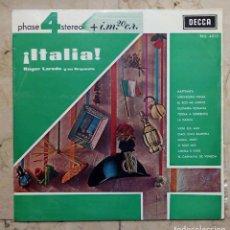 Discos de vinilo - LP ROGER LAREDO Y SU ORQUESTA - ¡ITALIA! - DISCOS COLUMBIA 1963. - 71843479