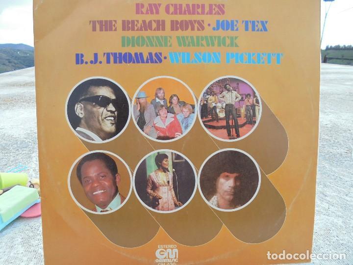 LP 1977. RAY CHARLES, WILSON PICKET, DIONNE WARWICK, JOE TEX, B.J.THOMAS, BEACH BOYS (Música - Discos - LP Vinilo - Funk, Soul y Black Music)