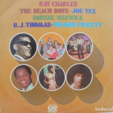 Discos de vinilo: LP 1977. RAY CHARLES, WILSON PICKET, DIONNE WARWICK, JOE TEX, B.J.THOMAS, BEACH BOYS. Lote 71855887