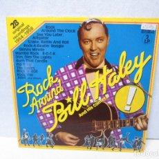 Discos de vinilo: ROCK AROUND BILL HALEY AND HIS COMETS. 28 ORIGINAL RECORDINGS 1954/1958. DOS LP. VER FOTOGRAFIAS. Lote 71943259