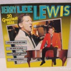 Discos de vinilo: JERRY LEE LEWIS. 20 GREATEST HITS. DISCO VINILO. VER FOTOGRAFIAS ADJUNTAS. Lote 71945103