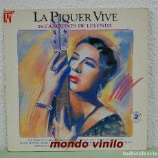 Discos de vinilo: LA PIQUER VIVE. 26 CANCIONES DE LEYENDA. LP DOBLE.. Lote 71948391