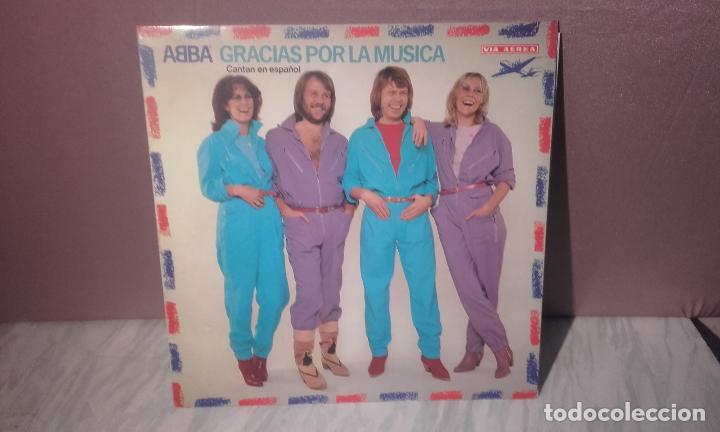 VINILO ABBA - GRACIAS POR LA MUSICA - DEDICADO POR LOS COMPONENTES DEL GRUPO (Música - Discos de Vinilo - EPs - Pop - Rock - New Wave Internacional de los 80)