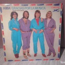 Discos de vinilo: VINILO ABBA - GRACIAS POR LA MUSICA - DEDICADO POR LOS COMPONENTES DEL GRUPO. Lote 72018759