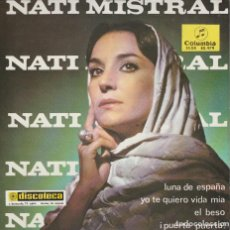 Discos de vinilo: NATI MISTRAL / LUNA DE ESPAÑA + 3 (EP 1965). Lote 72014127
