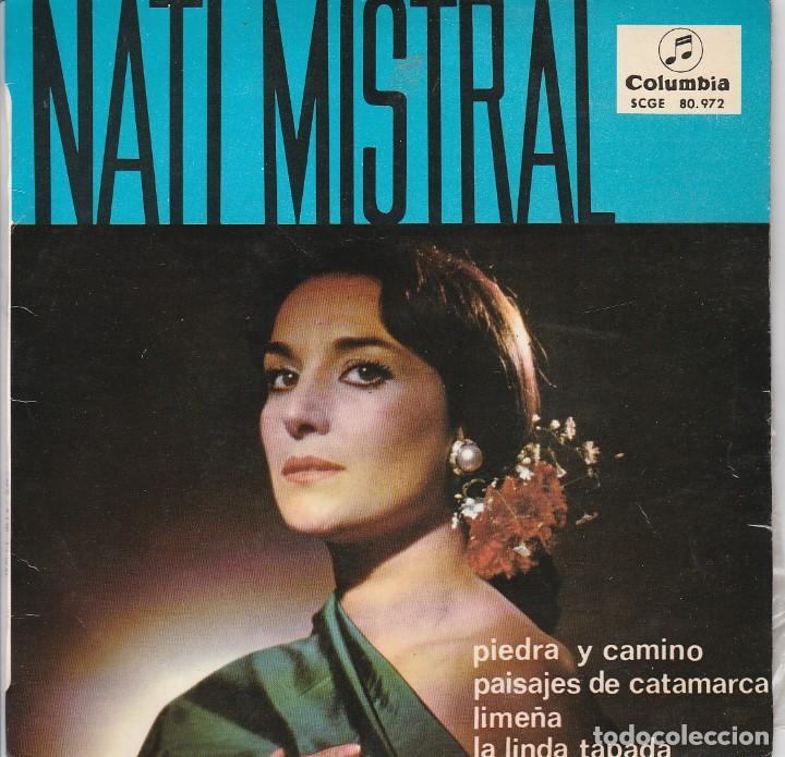 NATI MISTRAL / PIEDRA Y CAMINO + 3 (EP 1965) (Música - Discos de Vinilo - EPs - Flamenco, Canción española y Cuplé)
