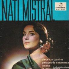 Discos de vinilo: NATI MISTRAL / PIEDRA Y CAMINO + 3 (EP 1965). Lote 72014179