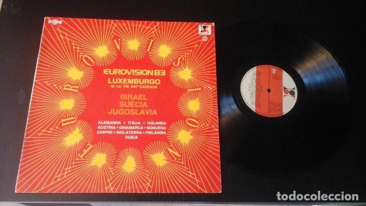 EUROVISIÓN 83 LP RISO E RITMO DISCOS RR LP 2176 EDITADO EN PORTUGAL (Música - Discos - LP Vinilo - Festival de Eurovisión)