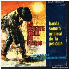 Disques de vinyle: ENNIO MORRICONE - LA MUERTE TENÍA UN PRECIO / POKER DE ASES / RINDIENDO CUENTAS +1 - EP 1966. Lote 72027267