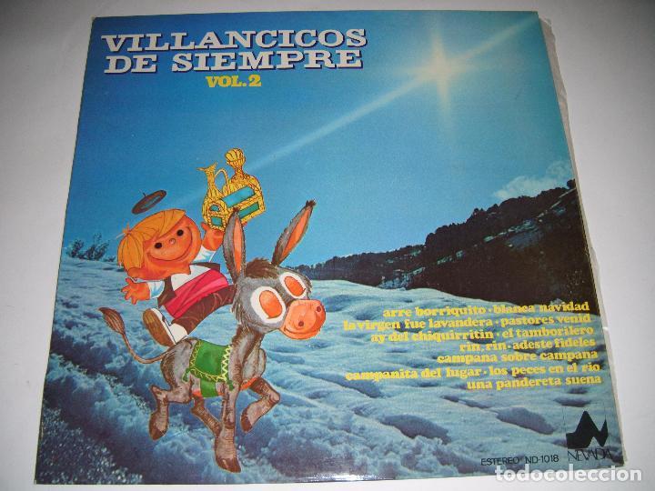 LP DISCO VINILO VILLANCICOS DE SIEMPRE VOLUMEN 2 1976 (Música - Discos - LP Vinilo - Flamenco, Canción española y Cuplé)