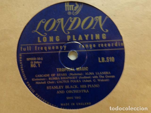 Discos de vinilo: STANLEY BLACK, His Piano and Orchestra - Tropical Magic - LB 510 - UK FFrr Mono 1951 Record - Foto 2 - 72047327