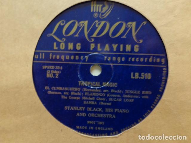 Discos de vinilo: STANLEY BLACK, His Piano and Orchestra - Tropical Magic - LB 510 - UK FFrr Mono 1951 Record - Foto 3 - 72047327