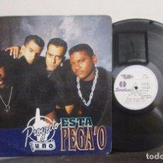 Discos de vinilo: PROYECTO UNO 1 IS IN DA HOUSE ESTA PEGAO LP VINILO T81 VG PRINTED COLOMBIA 1993 RARO ESCASO.. Lote 72075667