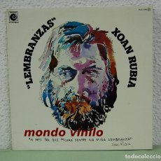 Discos de vinilo: XOAN RUBIA. LEMBRANZAS. ZAFIRO 1977. CARPETA ABIERTA, LP. Lote 72110379