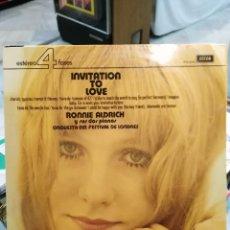 Discos de vinilo: RONNIE ALDRICH Y SUS DOS PIANOS, ORQUESTA DEL FESTIVAL DE LONDRES - INVITATION TO LOVE - LP.. Lote 72111235
