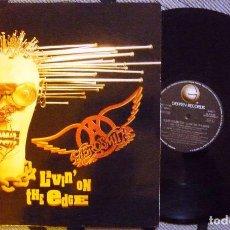 Discos de vinilo: LP -MAXI SINGLE - AEROSMITH - LIVIN' ON THE EDGE - ARIOLA, 1993 - EDICIÓN ESPAÑOLA. Lote 72114903